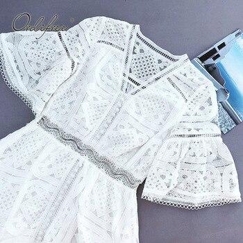 Tunica Di Pizzo Bianco | Ordifree 2019 Donne Di Estate Del Vestito Di Pizzo Bianco Vestito Estivo Manica Corta Crochet Sexy Bianco Del Merletto Tunica Spiaggia