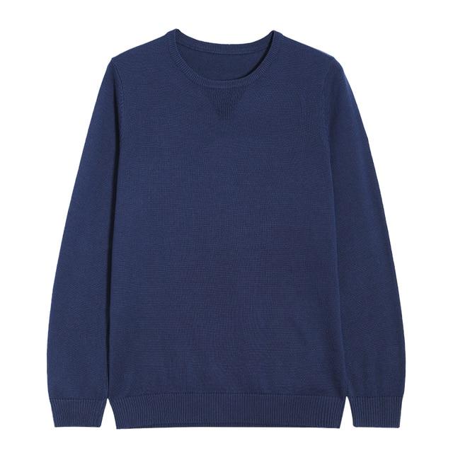 cebabc716e Pioneer camp nuevo suéter hombres marca ropa sólido clásico caliente  calidad 100% Jersey de algodón