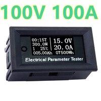 DC100V 100A Digital LCD Current Voltage Power Energy Meter Multimeter Ammeter Voltmeter Temperature Date Display 40