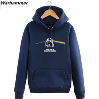 Hoodies 2017 Men Funny Dark Side Of The Death Vader Fleece Cotton Pullover Hoodie Sweatshirt Jacket