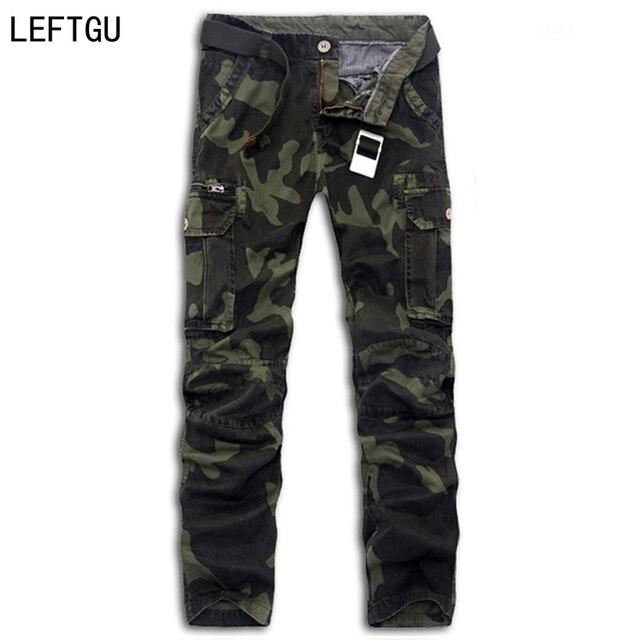 Pantalones de los hombres Nueva Llegada de La Manera de camuflaje guardapolvos hombres pantalones de carga militar pantalones de Algodón de Alta calidad Más bolsillos de los hombres