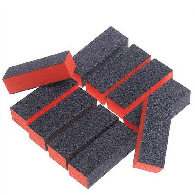 10pcs/Lot hand foot massager massage tools Nail Black Sanding Block Hear Heart Sanding Files Block Acrylic Nail Art Manicure Set 2