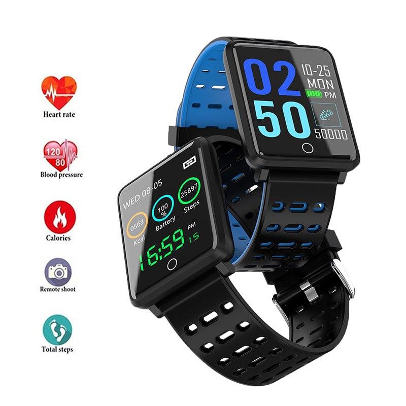 F3 Smart Armband Kleur Screen Hartslagmeter Bloeddruk Fitness Track Ip68 Waterdicht Gezondheid Stappenteller Smart Horloge