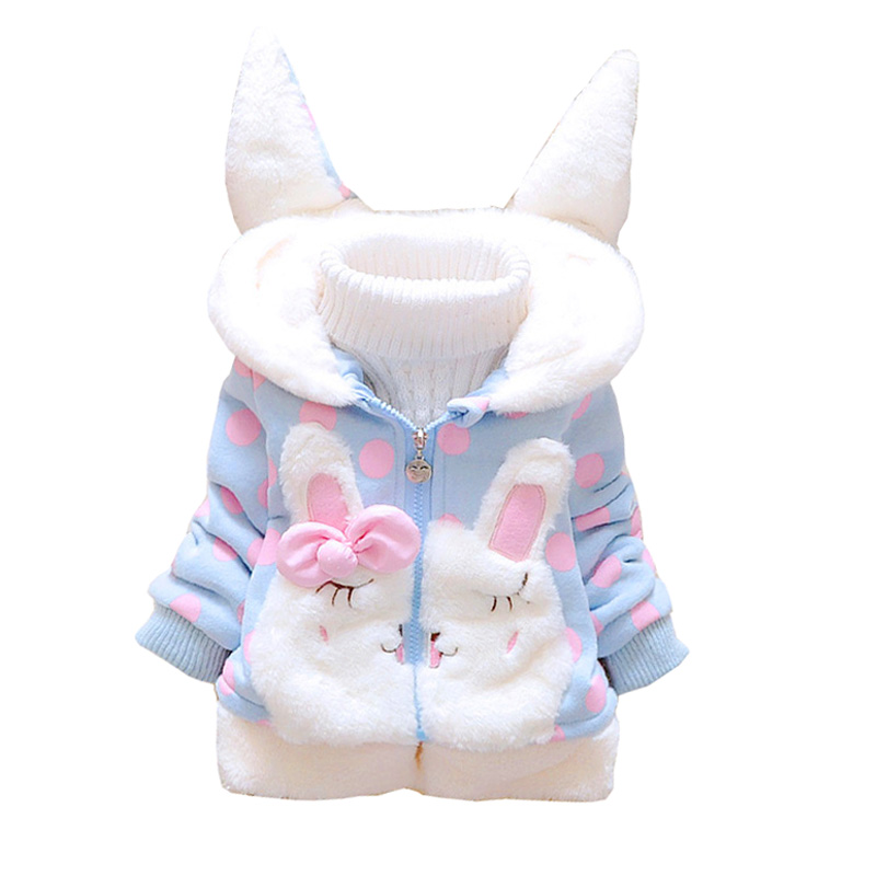 BibiCola Cute Hooded Girls Coat New Autumn Winter Cartoon Kids Girls Jackets Outerwear Children Girls Clothing Baby Tops Jacket new girls fashion vest autumn children clothing baby girls cotton printing animals tops vest kids clothes hooded coat jacket