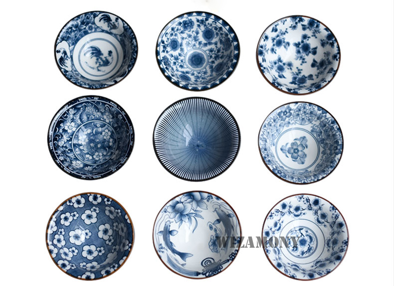 Traditional White Blue Tea Porcelain Cups 4