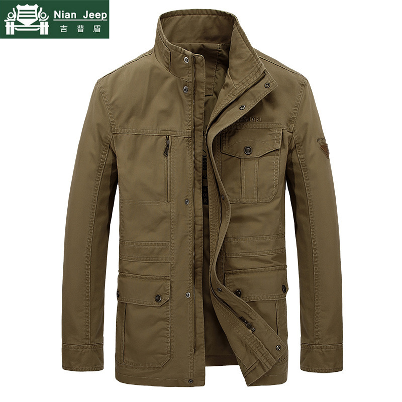 Brand Plus Size 7XL 8XL Military Jacket Men Autumn Winter Cotton High Quality Outwear Army Mid-Long Coats Male jaqueta masculina
