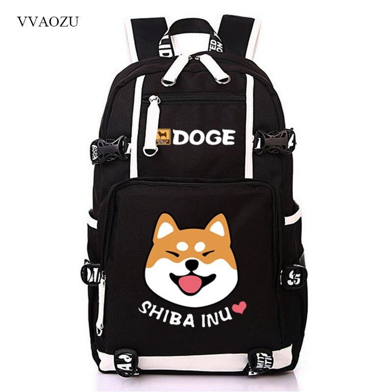 Cute Doge Large Capacity Backpack Shiba Inu Printing School Bags For Teenagers Men Women Travel Bags Laptop Backpack Mochila