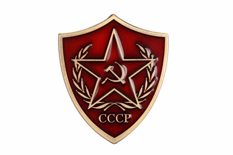 Soviet cccp stella rossa bandiera emblema socialismo russo lapel pin badge vittoria giorno raccogliere