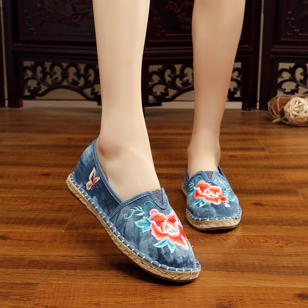 Plus Size 41 Fashion Women Shoes, Old Beijing Mary Jane Flats With Casual Shoes, Chinese Style Embroidered Cloth shoes woman plus size 41 fashion women shoes old elegant art party beijing mary jane flats with casual shoes chinese style embroidered clo