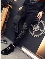 Autumn And Winter With Velvet Pants Loose Stitching Fashion Brand Cotton Crotch Pants Fashion Design ZX800