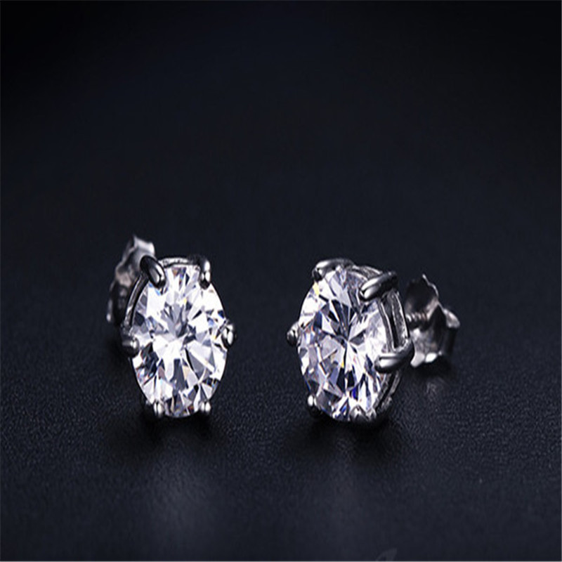 Sterling silver needle Stud earrings circular Set auger Women 39 s fashion earrings jewelry wholesale in Stud Earrings from Jewelry amp Accessories