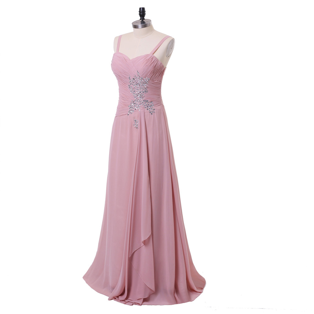 Pink 2019 Mother Of The Bride Dresses A-line Chiffon Beaded With Jacekt Long Evening Dresses Mother Dresses For Weddings