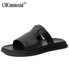 genuine leather Rome sandals men summer outdoor lazy mens slippers fashionable casual beach shoes flip flops men cowhide все цены
