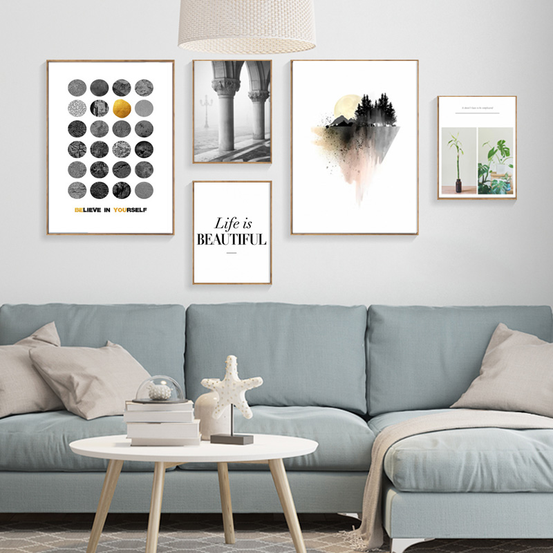 Aliexpress.com : Buy Wall Pictures Art Print Poster Wall Art Canvas  Painting Grey Beauty Posters And Prints Nordic Decoration Cuadros Poster  Unframed From ...