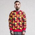 Gosha Rubchinskiy Style Camo Men Sweatshirt 2017 Newest Beautiful Stitched Letter Fashion Color Man Pullover Brand Clothing