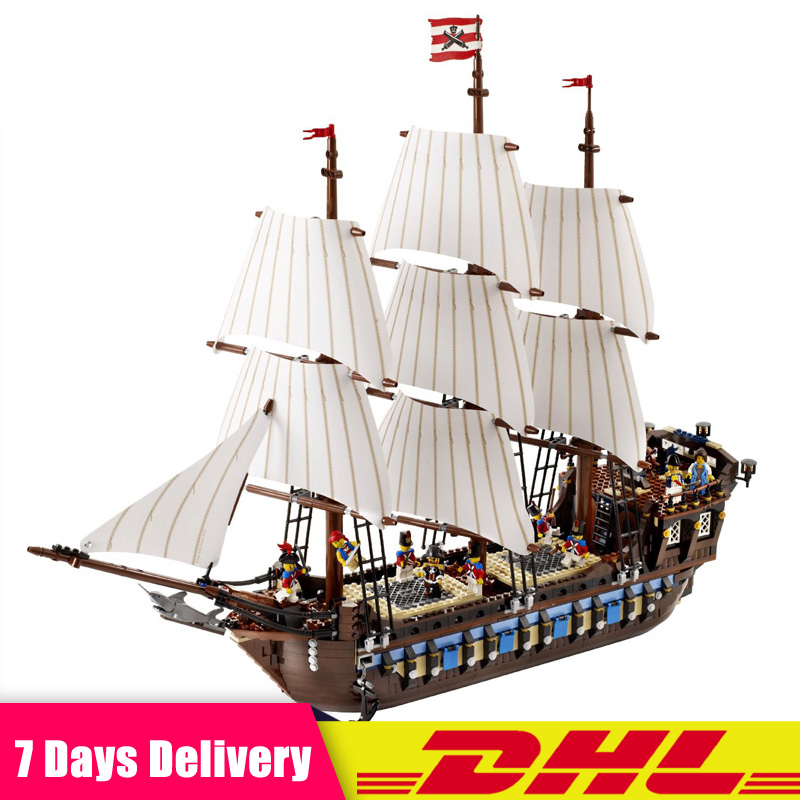 DHL LEPIN 22001 1717pcs Pirate Ship Imperial Warships Model Building Kits Block Briks Toys Gifts Compatible LegoINGlys 10210