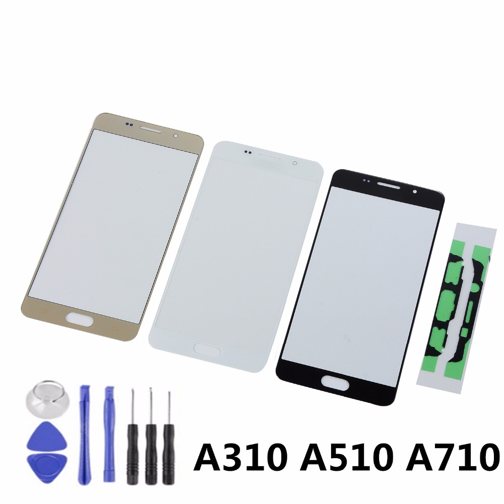 For Samsung A3 A5 A7 2016 A310 A310F A510 A510F A710 A710F Touch Screen Sensor LCD Display Digitizer Glass With Adhesive+Tools
