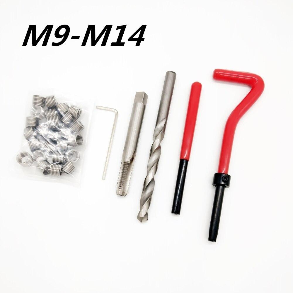 Car Engine Block Restoring Damaged Thread Repair Tool Kit M9 M10 M11 M12 M14 Auto Helical Coil Insert Garage Tools