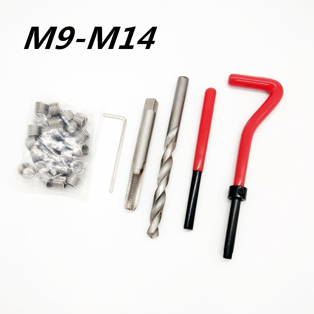 Car Engine Block Restoring Damaged Thread Repair Tool Kit M9 M10 M11 M12 M14 Auto Helical