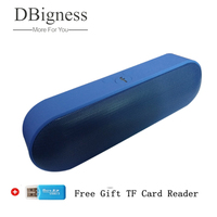Dbigness Bluetooth Speaker 1800mAh Portable Speaker Wireless Surround Sound Box MP3 Player Support TF Altavoz for phone PC