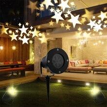 Warm white star laser projector light home garden Landscape lamp decoration bedroom Christmas outdoor indoor light stage effect