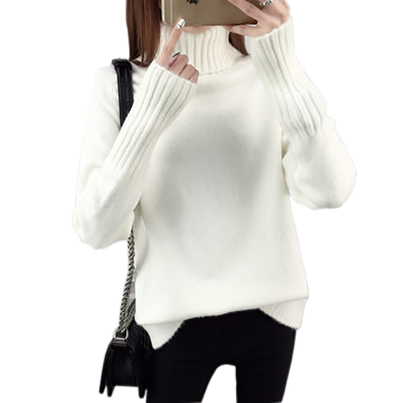 Autumn Winter Turtleneck Sweater Women 2018 New Design Thick Tricot Women Sweater And Pullover Female Jumper Tops LU051