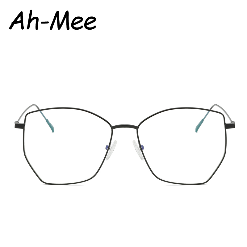 Fashion Square Glasses Frames Women Retro Optical Frame Prescription Eyeglasses Frames Pilot Men Metal Cateye Oversized Eyewear