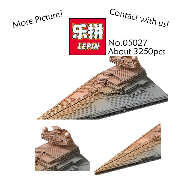 LEPIN 05027 3250Pcs StarWars Emperor fighters starship Model Building Blocks Bricks DIY Toys for children gifts Compatible 75055 05027 3250pcs star series wars classic emperor fighters starship model building blocks bricks toy compatible 10030 lepin