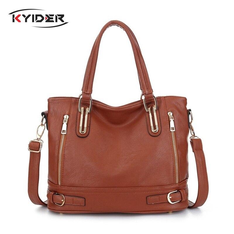 KYIDER 2019 New Leather Womens Handbag Luxury Women Shoulder Bags Designer Female Crossbody Messenger Bag Lady