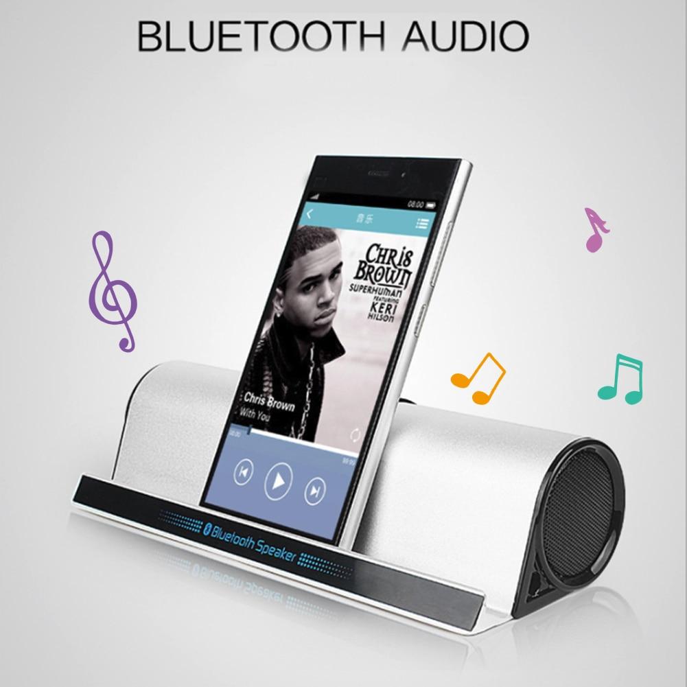 מקרן קיר BT-10 סטריאו סגסוגת Portable Bluetooth רמקול HD בס סאונד אלחוטי אודיו טלפון Tablet Stand מחזיק Bracket High-end טור (2)