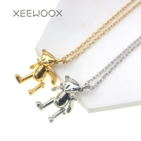 Lovely Little Bear Animal 14k Yellow Gold Pendant Necklace XEEWOOX Jewelry Fashion Week Designer Creative Gift