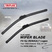 Wiper Blade For Renault Logan 2004 Onwards 1set 20 20 Flat Aero Beam Windscreen Wiper Blade