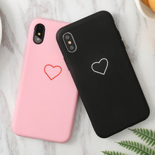 Cute Soft Heart Love Black Pink Case For Oppo A3 A3s A5 reno A7 A5s R11 R11s R7 R7s R9 R9s Plus R15 pro TPU Cover