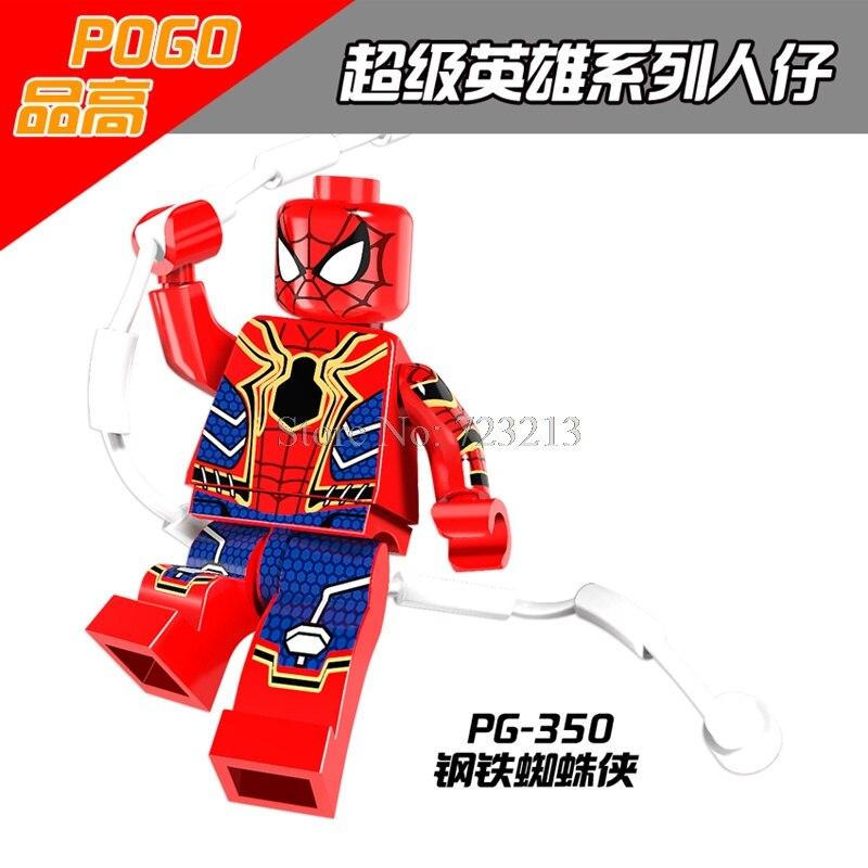 Iron Spider-Man Single Sale Figure Spider Man Building Blocks Marvel Super Hero Toys PG350