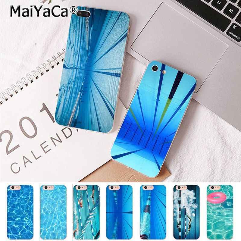 MaiYaCa для iPhone XS MAX 7 8 плюс бассейн Роскошные Вертикальный чехол для телефона для Apple iPhone 8 7 6 6 S плюс X 5S SE XR крышка