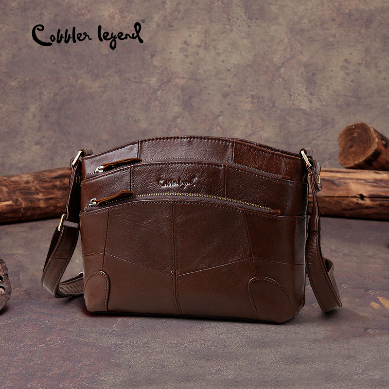 Cobbler Legend Multi Taschen Vintage Echtem Leder Tasche Weibliche Kleine Frauen Handtaschen Taschen Für Frauen 2018 Schulter Crossbody-tasche