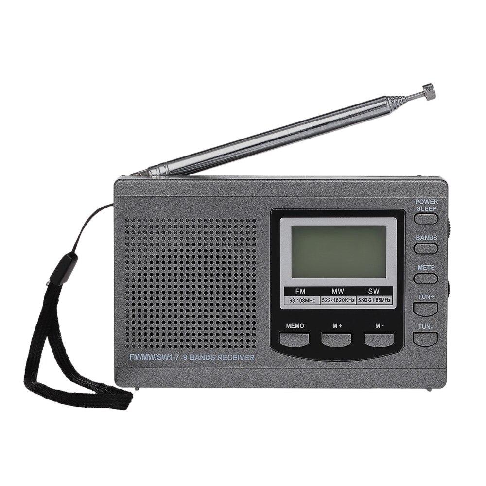 Fm/am/sw Radio Kopfhörer Ausgang Zeitanzeige Wecker Multiband Digital Stereo Radio Receiver Externe Drehbare Antenne Tragbares Audio & Video Unterhaltungselektronik