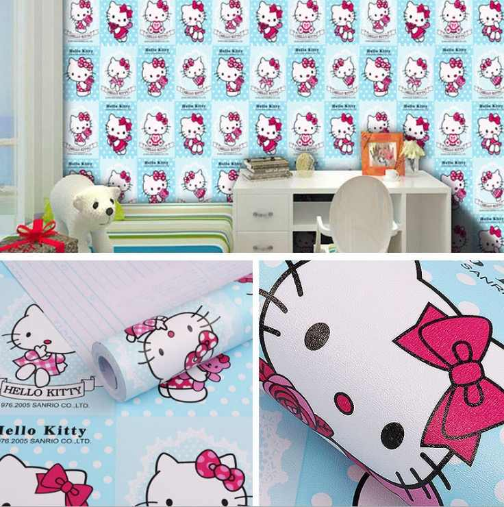 cartoon characters animated self-adhesive 3d wallpaper wall paper 45cm*10m pvc wall sticker for kids room decoration