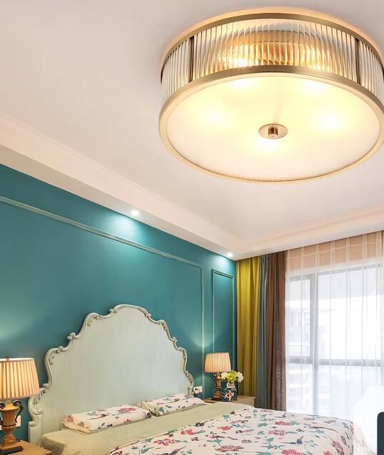 Amerikanischen stil kupfer lampe einfache und warmen wohnzimmer ...