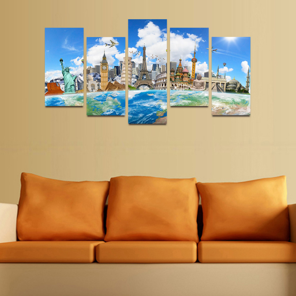 Original Oil Ink Canvas Print World Famous Architecture Sightseeing ...