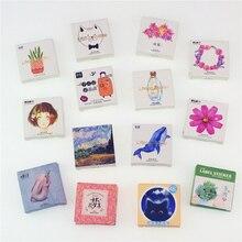 45 шт./упак. цветы Тотем памятки наклейки пакет Kawaii планировщик для скрапбукинга наклейки канцелярские Эсколар школьные принадлежности