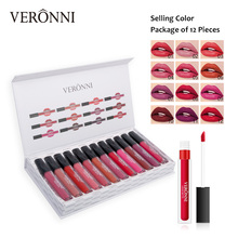 VERONNI Matte Lipgloss Kits Waterproof Long Lasting Make Up Liquid Lipstick Set Nude Lip Gloss Tint Beauty Cosmetics Maquiagem