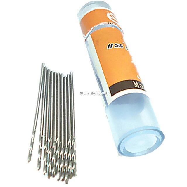 10pcs 0.8mm High Speed Steel Hss Drill Bit Set Twist Drill Bits Woodworking Wood Tool Jewellers Craft Metric Micro Mini Drill
