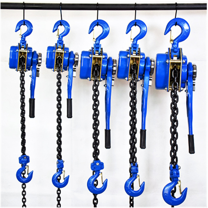 Hand Chain Hoist 0.75 Ton 0.8 Ton 1 Ton Small Portable Manual Hanging Hoist Hand Tensioner Tightener