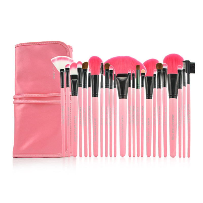 24PCS Professional Makeup Set Pro Kits Brushes Kabuki Cosmetics Brush Tool G6627