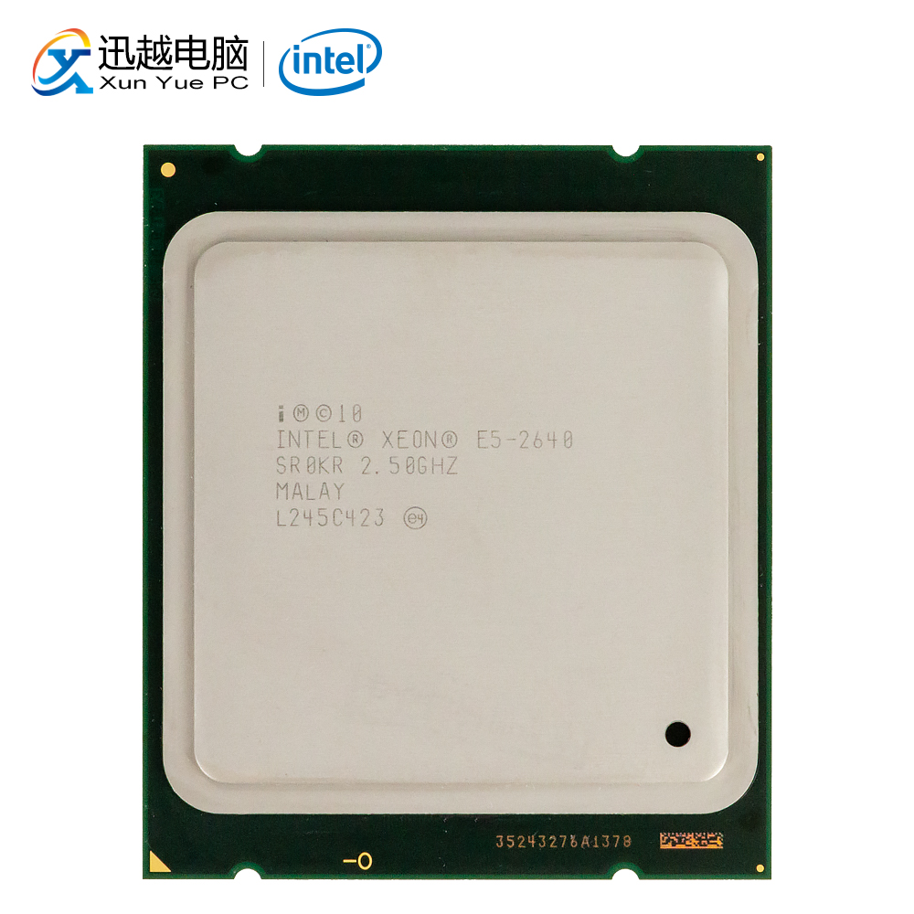 Intel <font><b>Xeon</b></font> <font><b>E5</b></font>-<font><b>2640</b></font> Desktop Processor <font><b>2640</b></font> Six Core 2.5GHz 15MB L3 Cache LGA 2011 Server Used CPU image