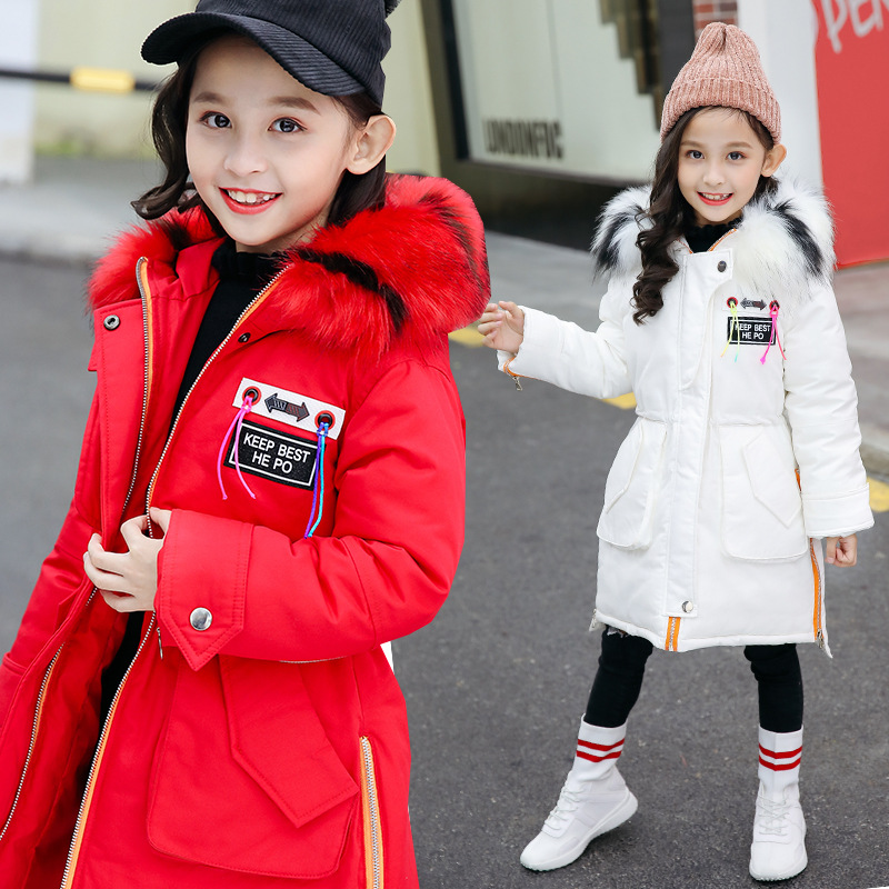 Winter Coat For Girls Kids Cotton Jacket Casual Children's Outerwear 2018 Casual Long Warm Thick Hooded Kids Outerwear For 4-12Y 10 20feet 300 600cm photography background boats dock house wallpaper free shipping