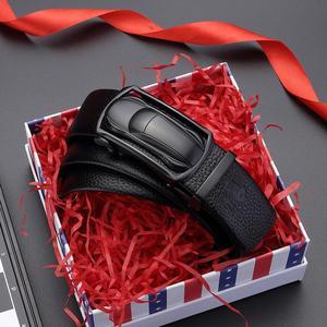 Image 5 - BISON DENIM Genuine Leather Male Belt Luxury Metal Automatic Buckle Strap Belts for Men Cowskin High Quality Fashion belt N71396