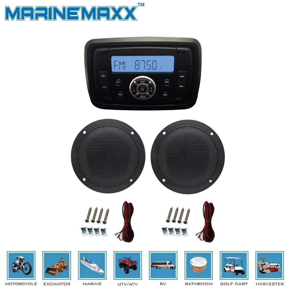 definitive outdoor speakers. 1 marine audio mp3 radio fm am bluetooth music stereo+ 1pair 4\u0027\u0027 2 way boat waterproof speakers for outdoor definitive r