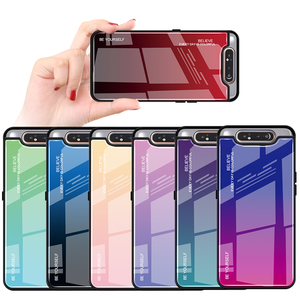 Image 2 - שיפוע זכוכית טלפון מקרה לסמסונג גלקסי A80 A90 A 80 90 מקרה לסמסון SM A805F 90A 80A כיסוי מעטפת בטיחות Fundas קאפה